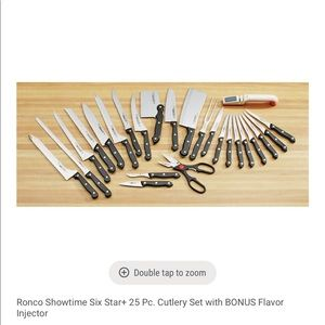 Black 25 piece Knife Set with Injector